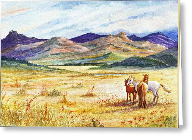 Greeting Card featuring the painting What Lies Beyond by Marilyn Smith