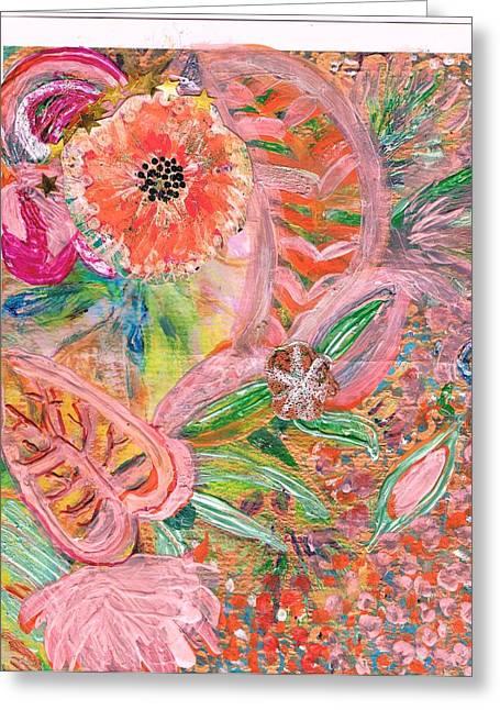 What Makes You Happy II Greeting Card by Anne-Elizabeth Whiteway