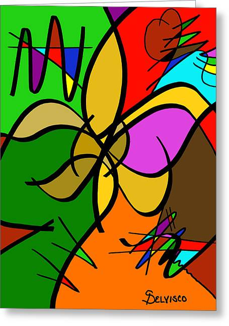 What Once Was Greeting Card by Salvadore Delvisco