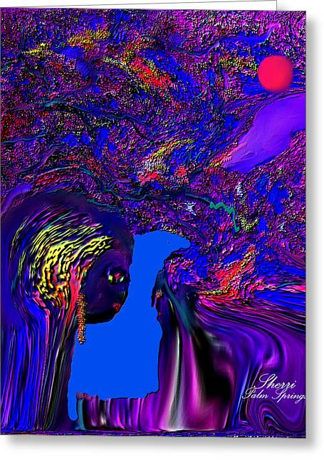 Greeting Cards - What Planet Are You Going To Greeting Card by Sherri  Of Palm Springs