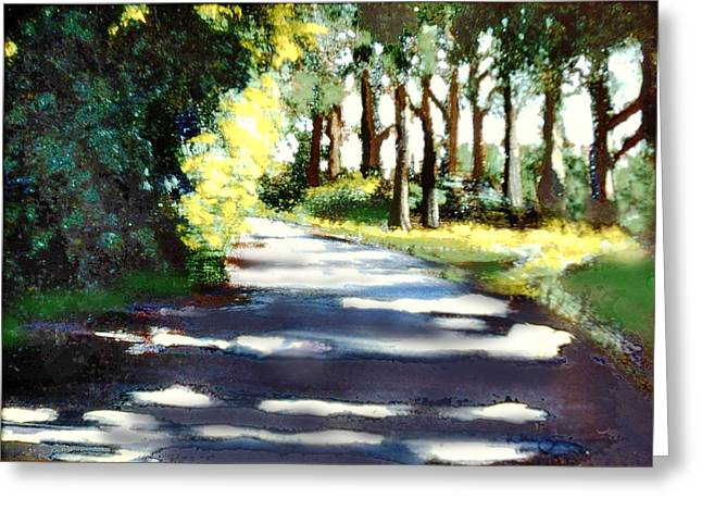 What Waits For Us Down The Road Greeting Card by David Zimmerman