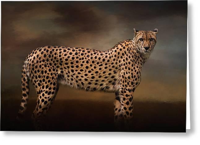 What You Imagine - Cheetah Art Greeting Card by Jordan Blackstone