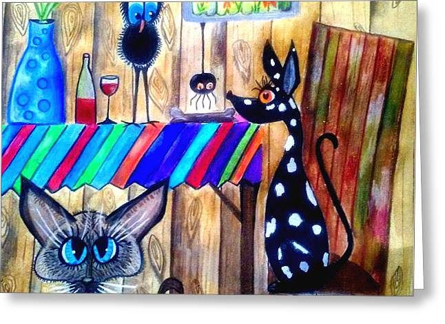 What's For Dinner Greeting Card by Mary Sisson
