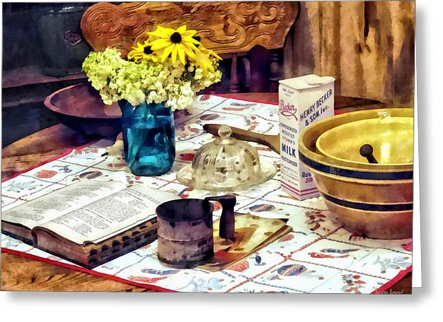 What's For Dinner Greeting Card by Susan Savad