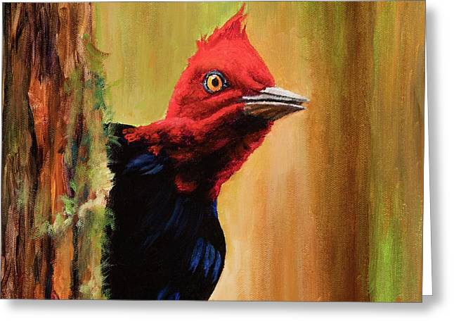 Greeting Card featuring the painting Whats Up? by Igor Postash