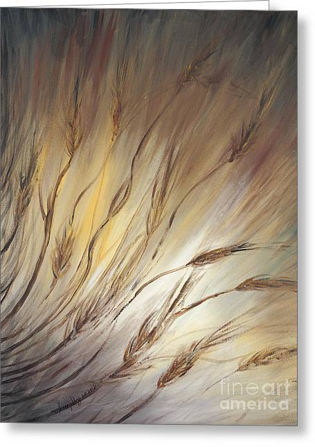 Wheat In The Wind Greeting Card by Nadine Rippelmeyer