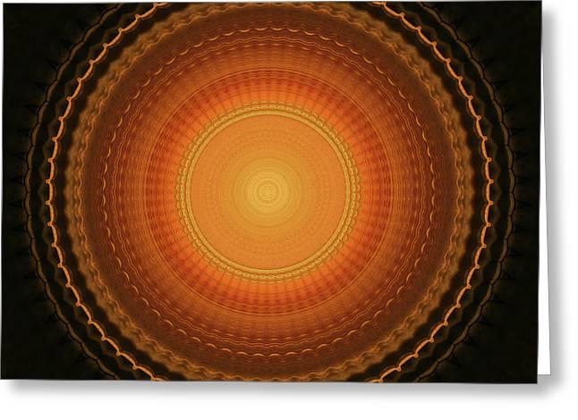 Wheel Kaleidoscope Greeting Card