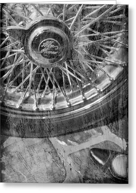 Greeting Card featuring the photograph Wheel Of An Old Car. by Andrey  Godyaykin