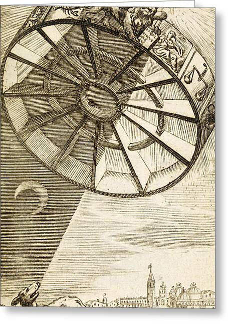 Wheel Of Fortune Descending, 1657 Greeting Card by Wellcome Images
