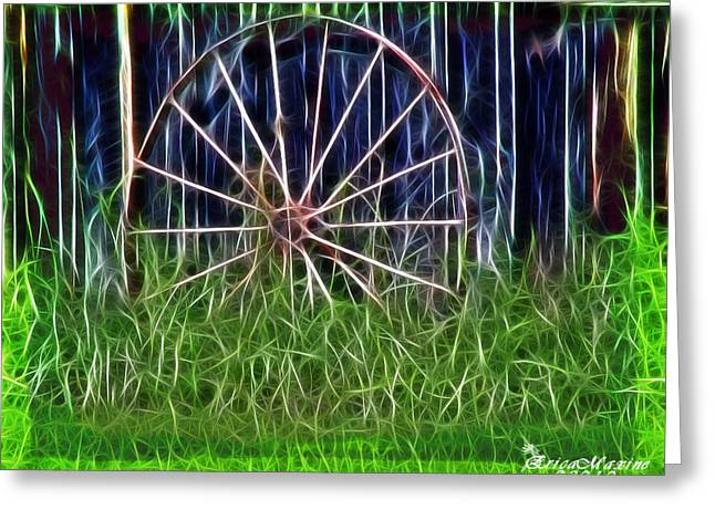 Wheel Of Fortune Greeting Card by EricaMaxine  Price