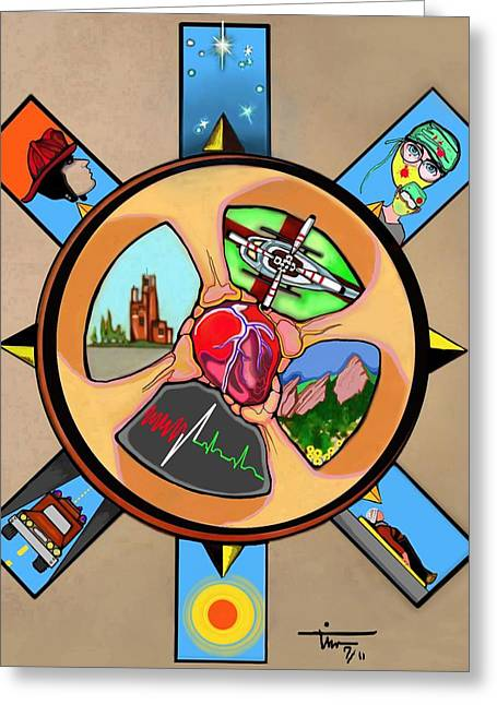 Wheel Of Life Ems Poster Greeting Card