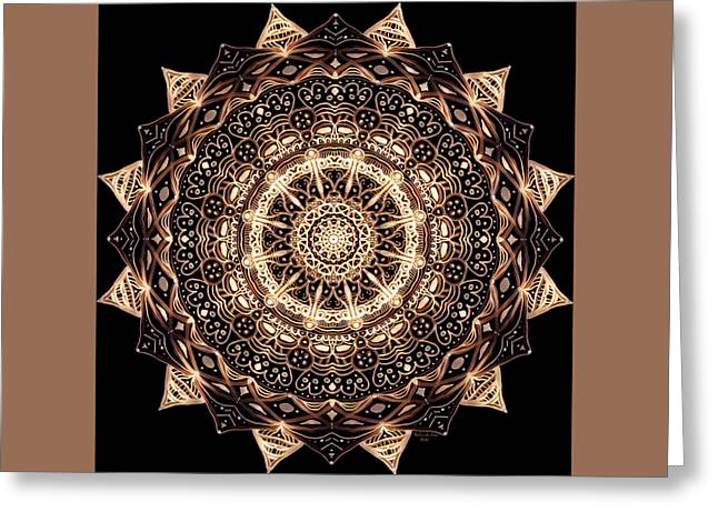 Wheel Of Life Mandala Greeting Card