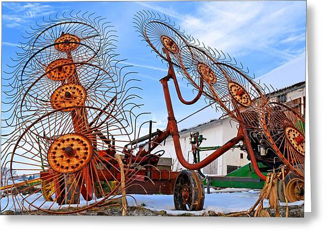 Wheel Rake Upside Down 2 Greeting Card
