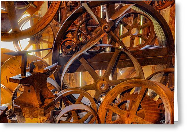Wheels And Gears Greeting Card by Leland D Howard