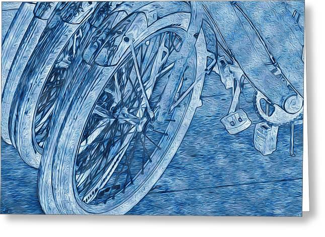 Wheels Greeting Card by Lynda Lehmann