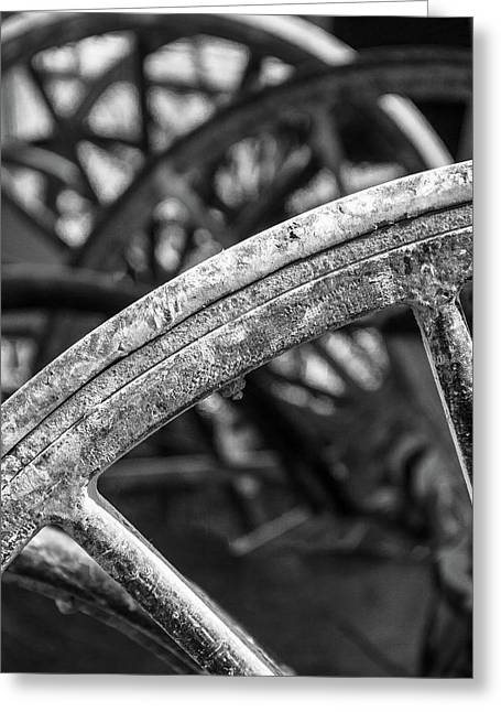 Wheels Of Yesterday Greeting Card by Steven Bateson