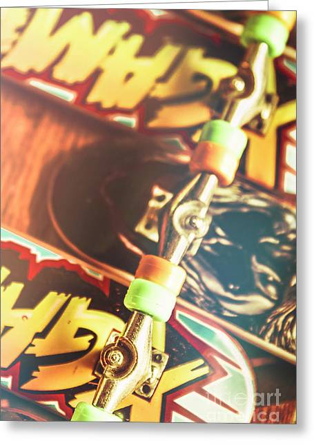Wheels Trucks And Skate Decks Greeting Card by Jorgo Photography - Wall Art Gallery