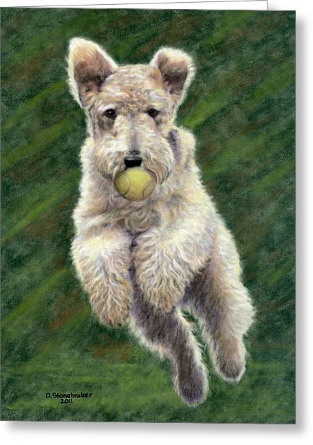 When Dogs Fly Greeting Card by Debbie Stonebraker