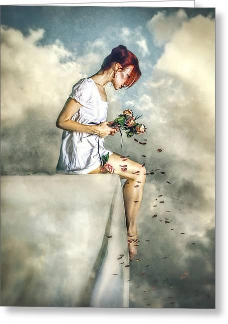 When Dreams Die Greeting Card by Spokenin RED