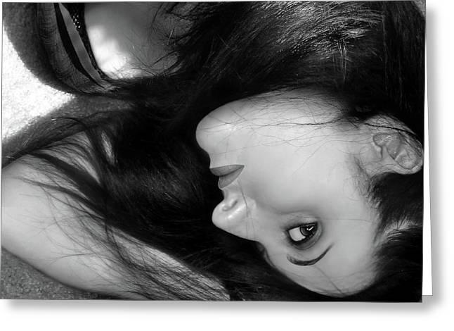 When Dreams Slip Away - Self Portrait Greeting Card by Jaeda DeWalt