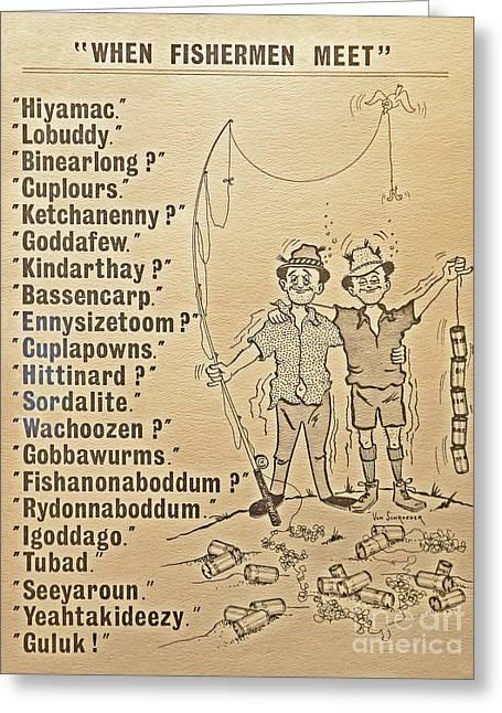 When Fishermen Meet Greeting Card