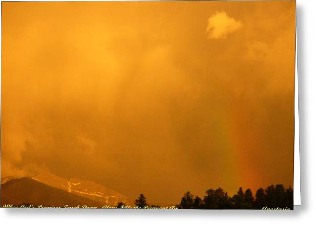 Greeting Card featuring the photograph When God's Promises Touch Down... by Anastasia Savage Ealy