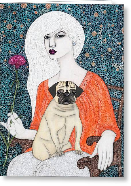 Greeting Card featuring the painting When I Call by Natalie Briney