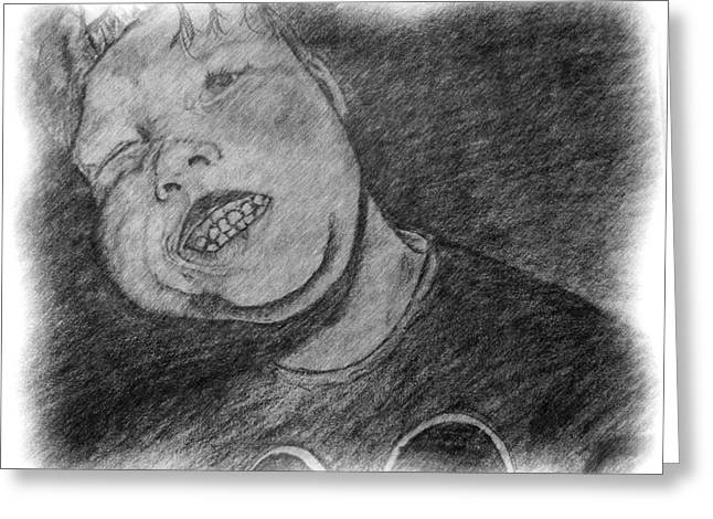 Greeting Card featuring the drawing When John Was Johnny by Shelley Bain