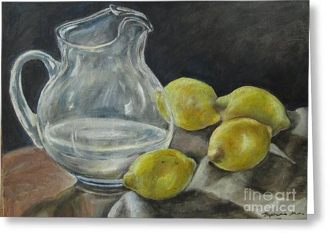 When Life Hands You Lemons Greeting Card by Stephanie  Skeem