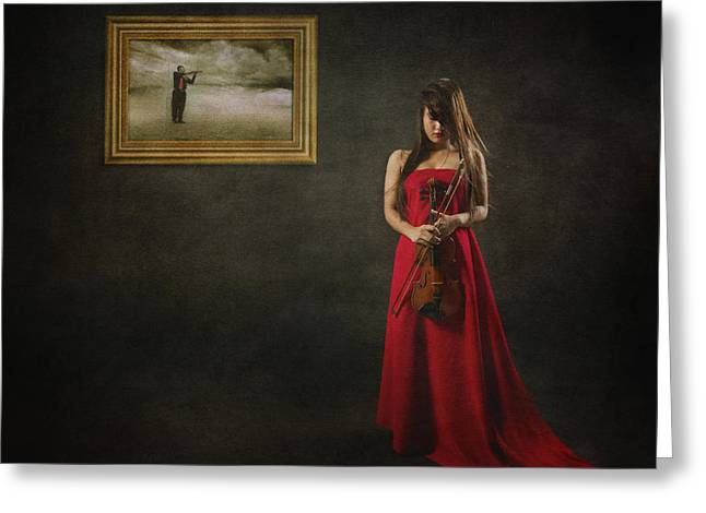 When Memories Never Want To Go Greeting Card by Heru Agustiana