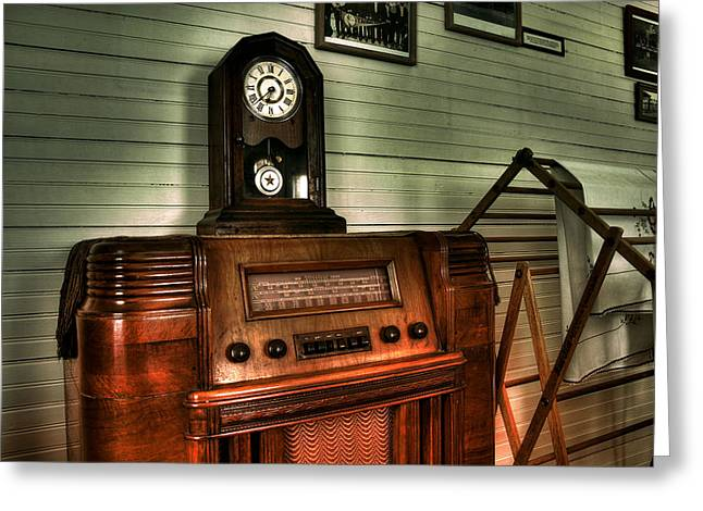 When Radios Were King Greeting Card by Mike Flynn