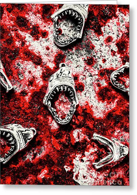 When Sharks Attack  Greeting Card by Jorgo Photography - Wall Art Gallery