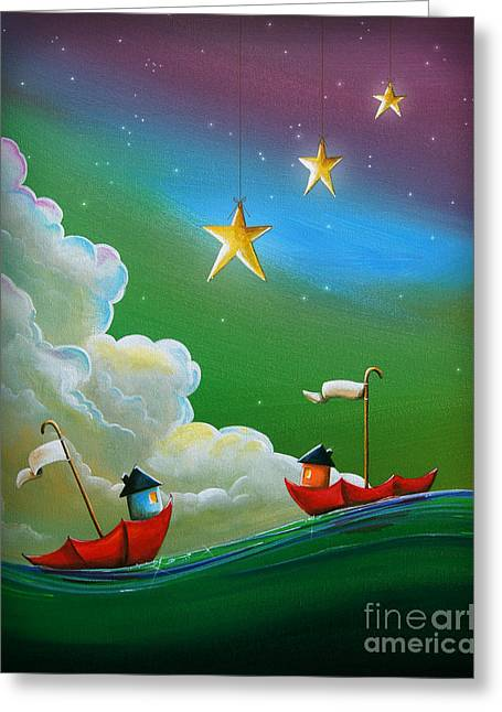 When Stars Align Greeting Card by Cindy Thornton