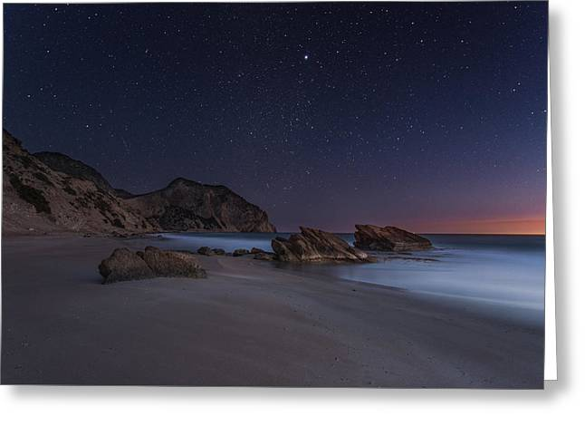 When Stars And Salt Collide Greeting Card by Mike Drosos