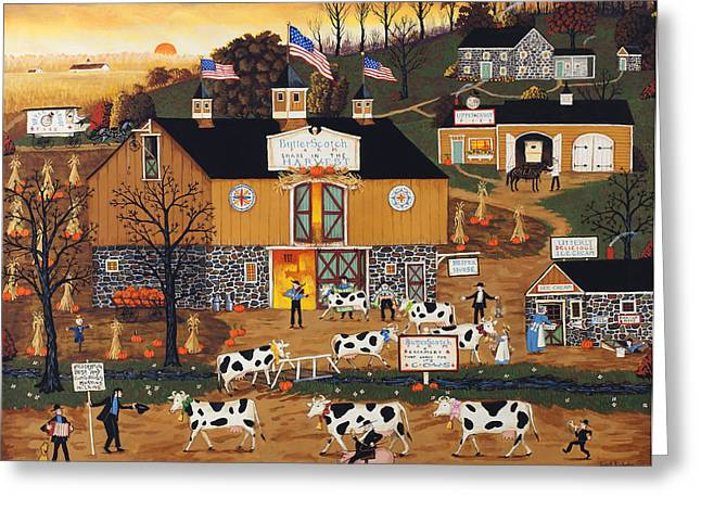 When The Cows Come Home Greeting Card by Joseph Holodook