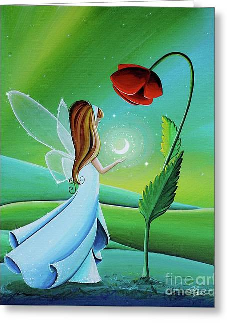 When The Moon Sings A Song Greeting Card