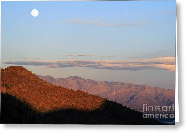 When The Mountains Turn Pink... Greeting Card by Paula Guttilla
