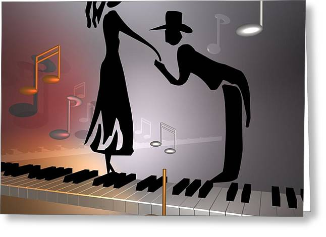 When The Music ... Greeting Card