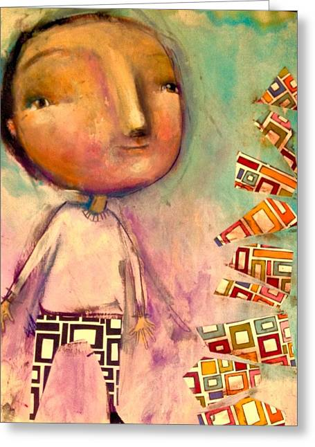 When The Pieces Topple Greeting Card by Eleatta Diver