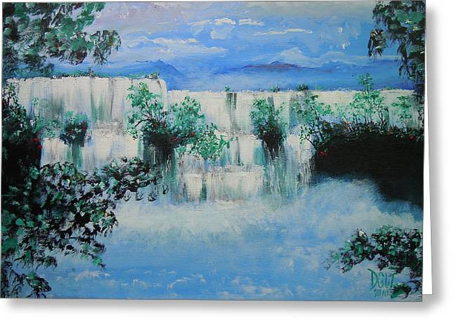 Greeting Card featuring the painting When The Rivers Rise by Dan Whittemore