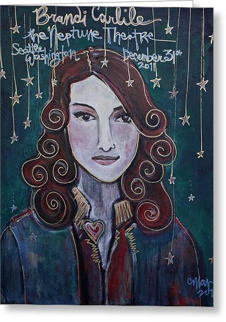 When The Stars Fall For Brandi Carlile Greeting Card