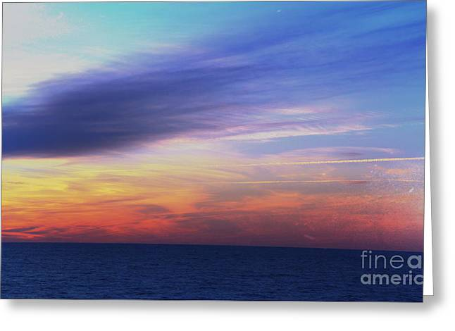 When The Sun Kissed The Sky  Greeting Card