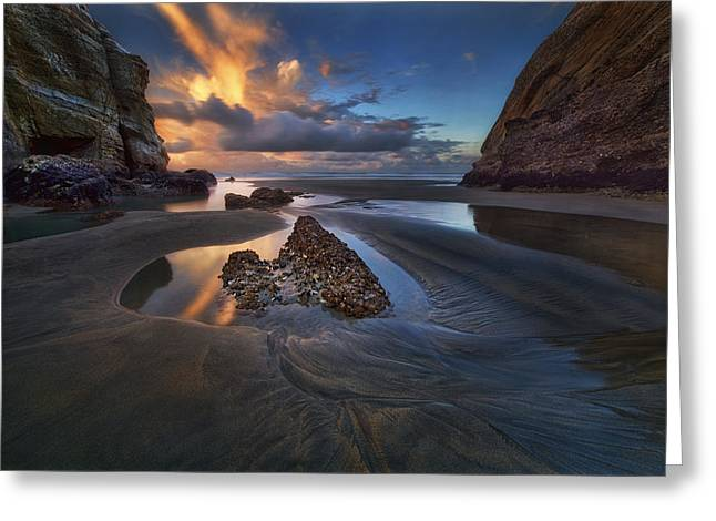 When The Tide Receded Greeting Card by Yan Zhang