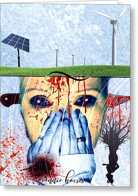 When They Take The Mind Greeting Card by Vennie Kocsis