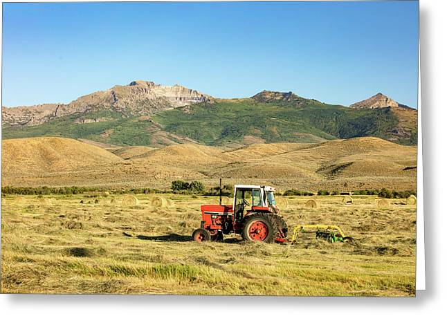 When Tractors Were Good Greeting Card by Todd Klassy