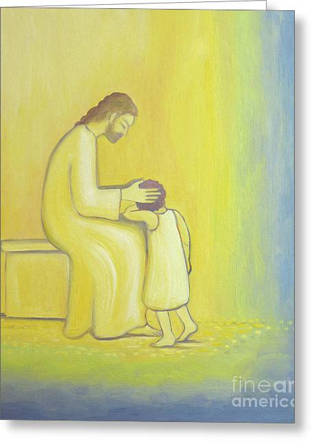 When We Repent Of Our Sins Jesus Christ Looks On Us With Tenderness Greeting Card