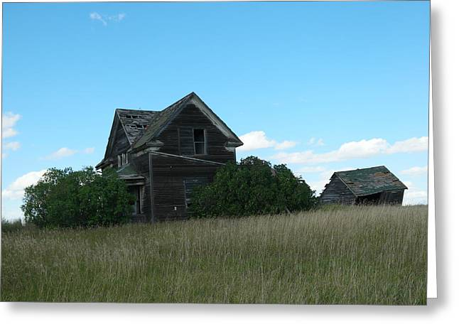 Where Dreams Whirled In Prairie Winds Greeting Card by Jeff Swan