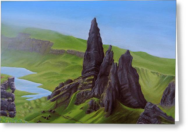Where Giants Roam The Skye Greeting Card