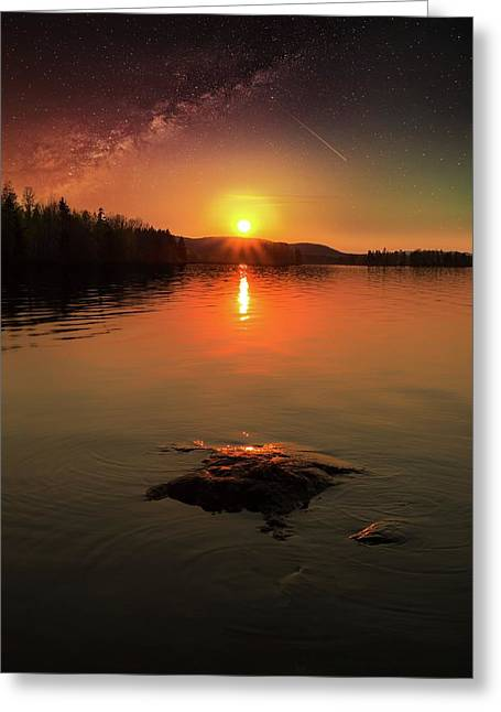 Where Heaven Touches The Earth Greeting Card