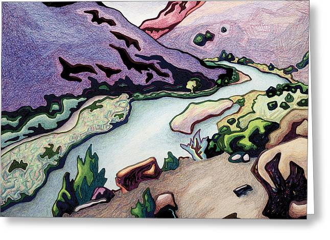 Where I Cross The Rio Grande Greeting Card by Dale Beckman